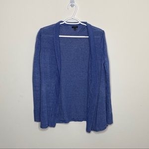 Talbots Blue Open Knit Cardigan Womens Medium